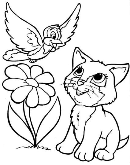 Cute Kitten Coloring Pages 68