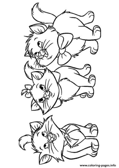 Cute Kitten Coloring Pages 69