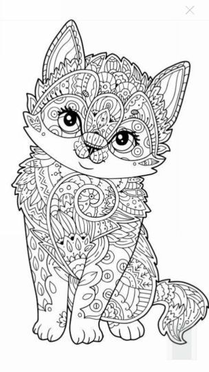 Cute Kitten Coloring Pages 72