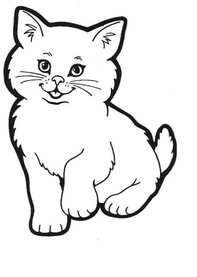 Cute Kitten Coloring Pages 73