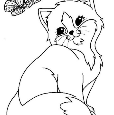 Cute Kitten Coloring Pages 75