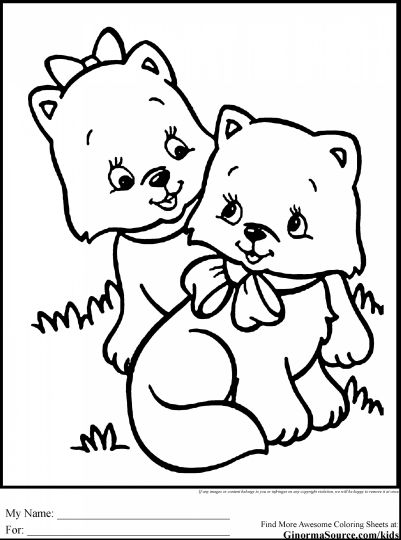 Cute Kitten Coloring Pages 76