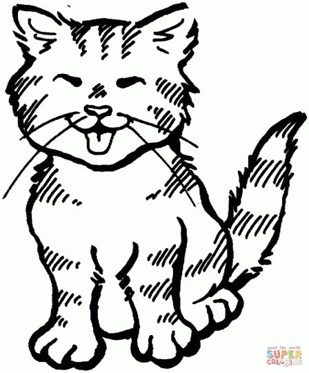 Cute Kitten Coloring Pages 77