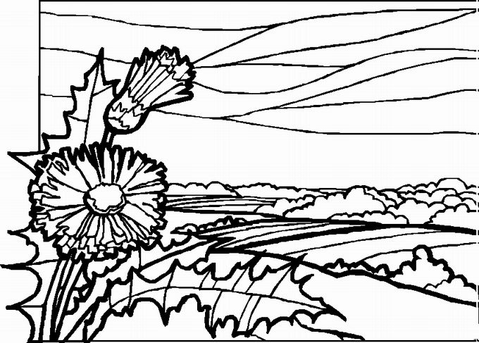 Detailed Landscape Coloring Pages For Adults 10