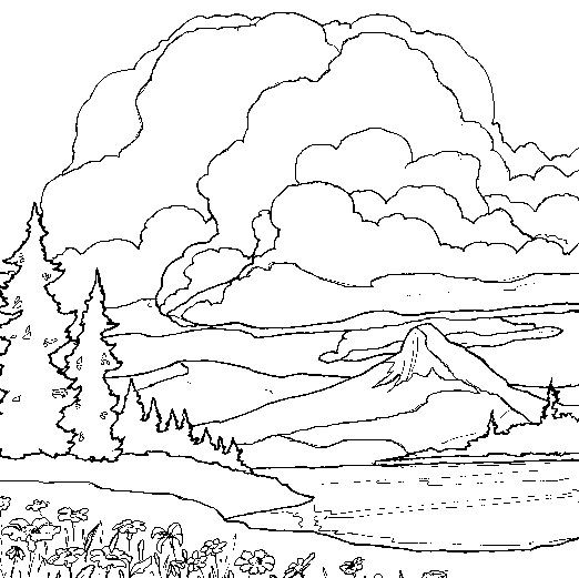 Detailed Landscape Coloring Pages For Adults 16