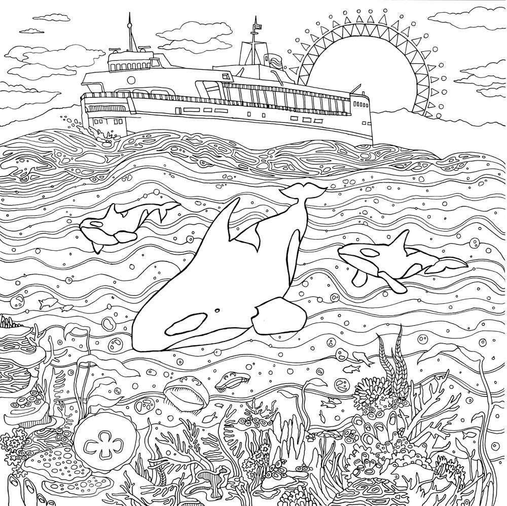 Detailed Landscape Coloring Pages For Adults 19