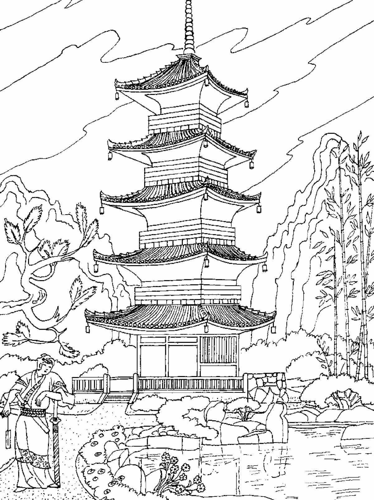 Detailed Landscape Coloring Pages For Adults 21