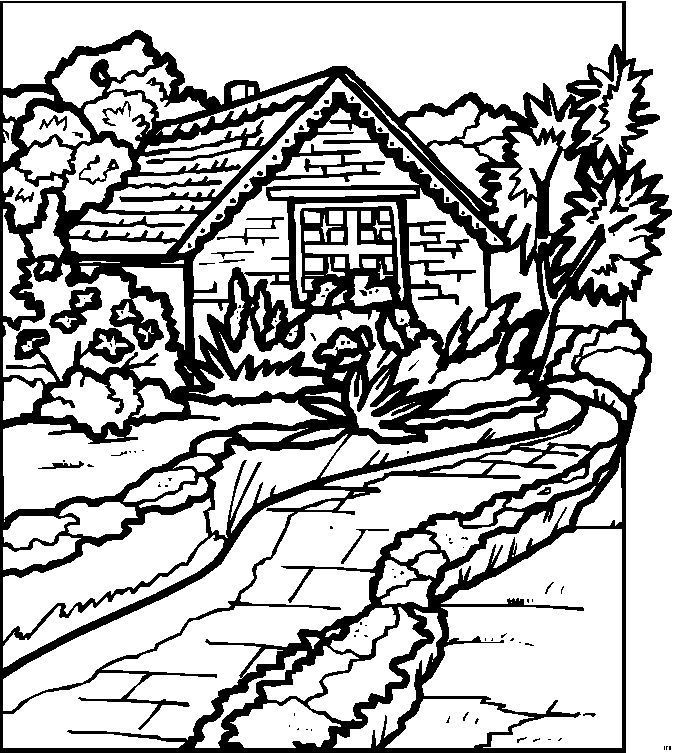 Detailed Landscape Coloring Pages For Adults 23