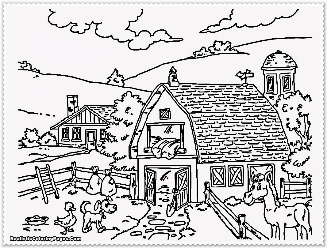 Detailed Landscape Coloring Pages For Adults 27