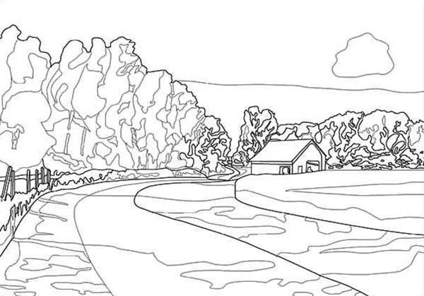 detailed landscape coloring pages for adults | Detailed Landscape Coloring Pages For Adults - Part 3