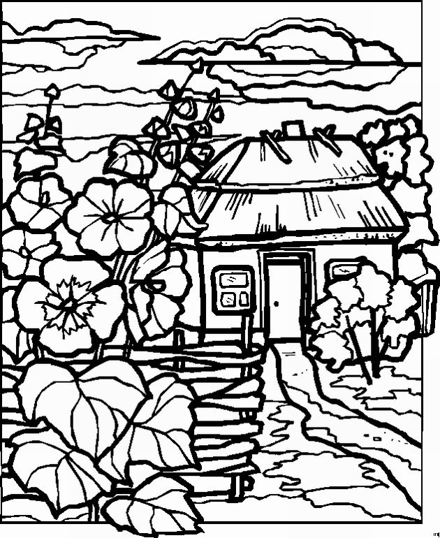 Detailed Landscape Coloring Pages For Adults 30