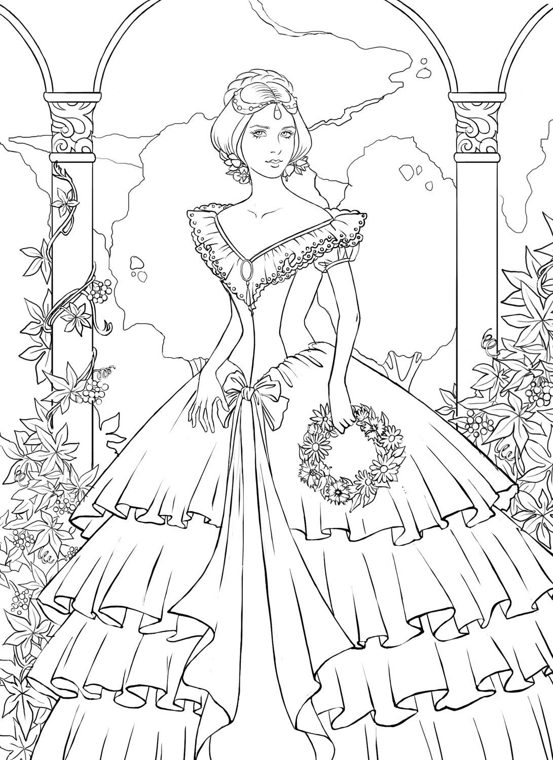 Detailed Landscape Coloring Pages For Adults 32