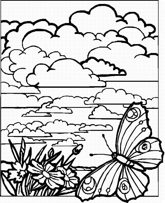 Detailed Landscape Coloring Pages For Adults 33