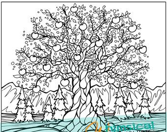 Detailed Landscape Coloring Pages For Adults 34