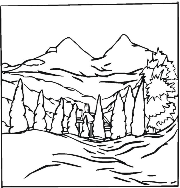 Detailed Landscape Coloring Pages For Adults 35