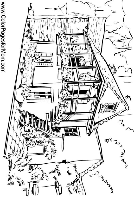 Detailed Landscape Coloring Pages For Adults 38