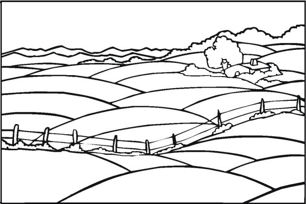Detailed Landscape Coloring Pages For Adults 39