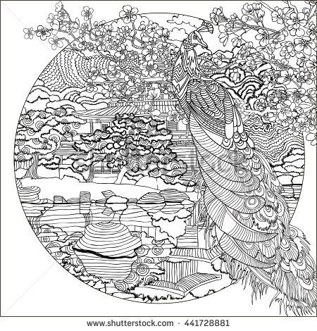 detailed landscape coloring pages for adults 53 - Landscape Coloring Pages
