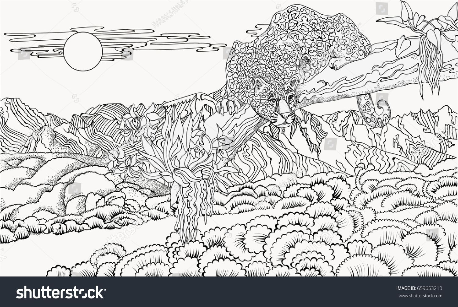 Detailed Landscape Coloring Pages For Adults 54