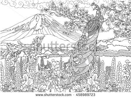 Detailed Landscape Coloring Pages For Adults 55