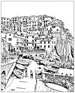 Detailed Landscape Coloring Pages For Adults 59