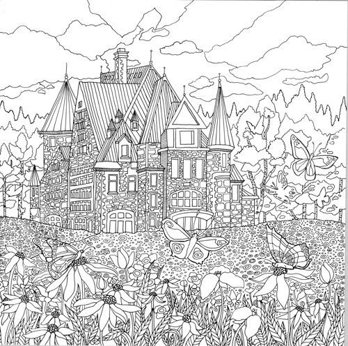 detailed landscape coloring pages for adults | Detailed Landscape Coloring Pages For Adults - Part 7