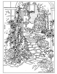 Detailed Landscape Coloring Pages For Adults 8