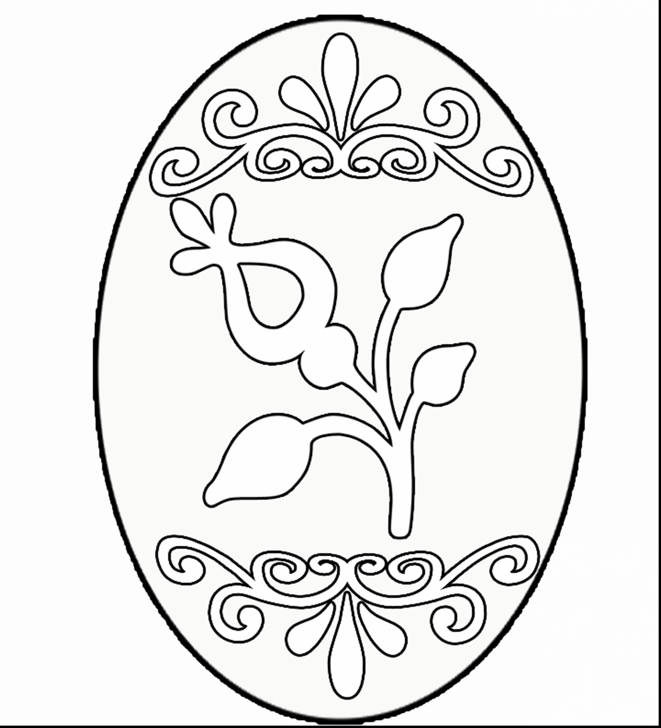 Easter Egg Colouring Pages 1