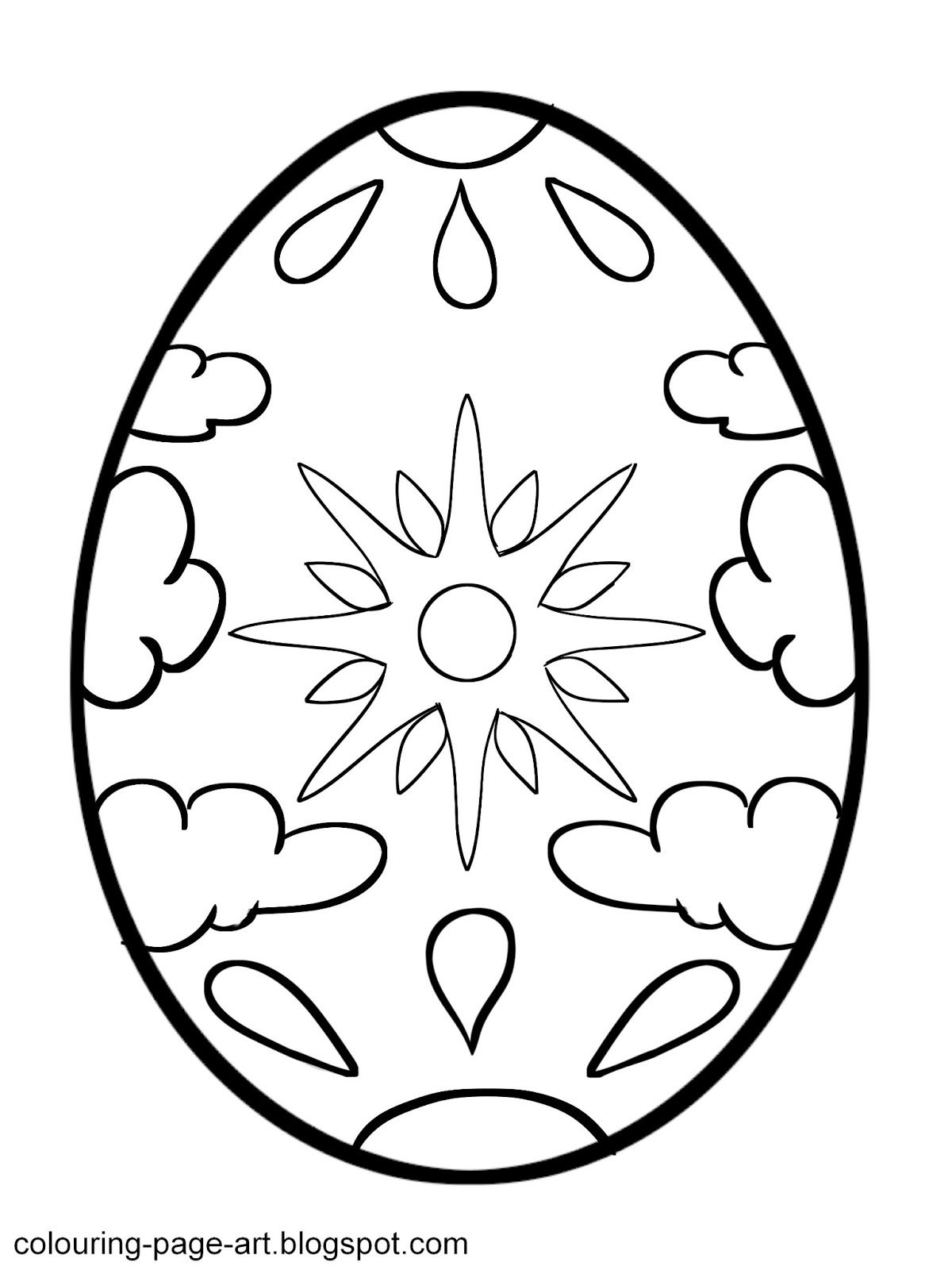Easter Egg Colouring Pages 101