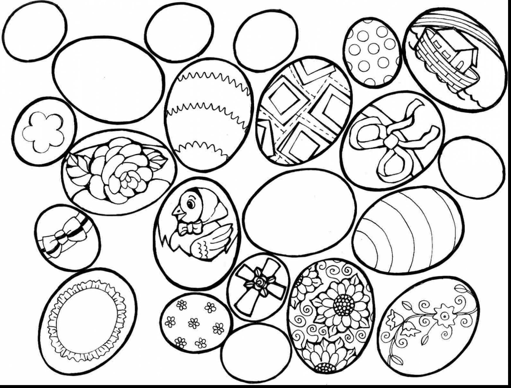 Easter Egg Colouring Pages 102