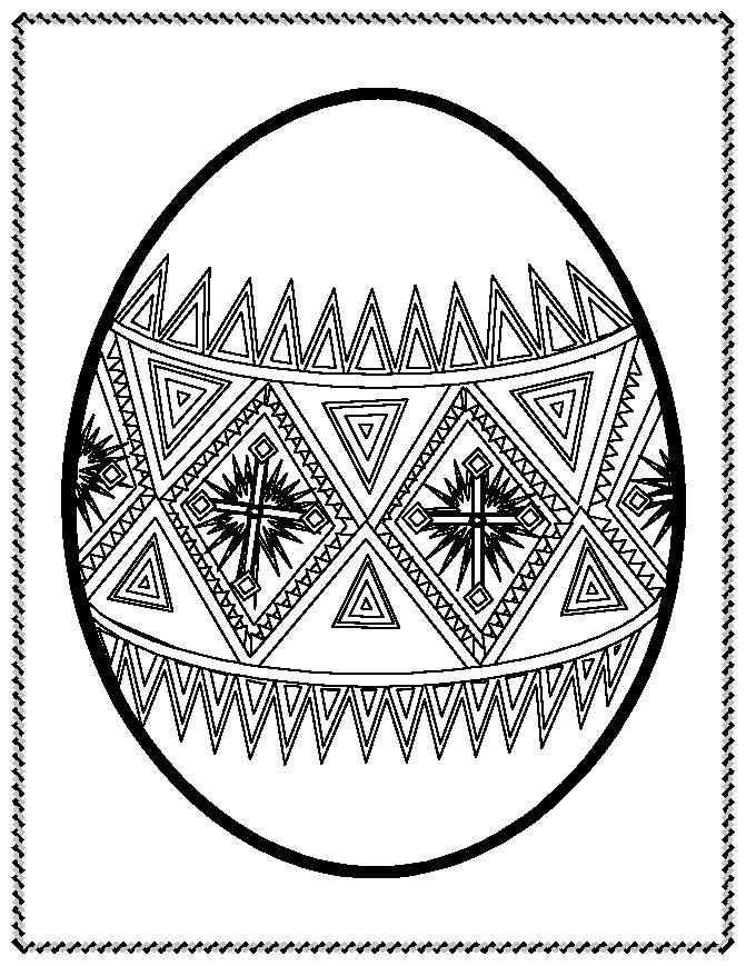 Easter Egg Colouring Pages 115