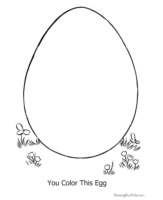 Easter Egg Colouring Pages 119