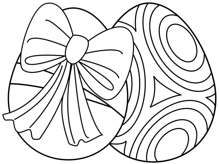 Easter Egg Colouring Pages 12