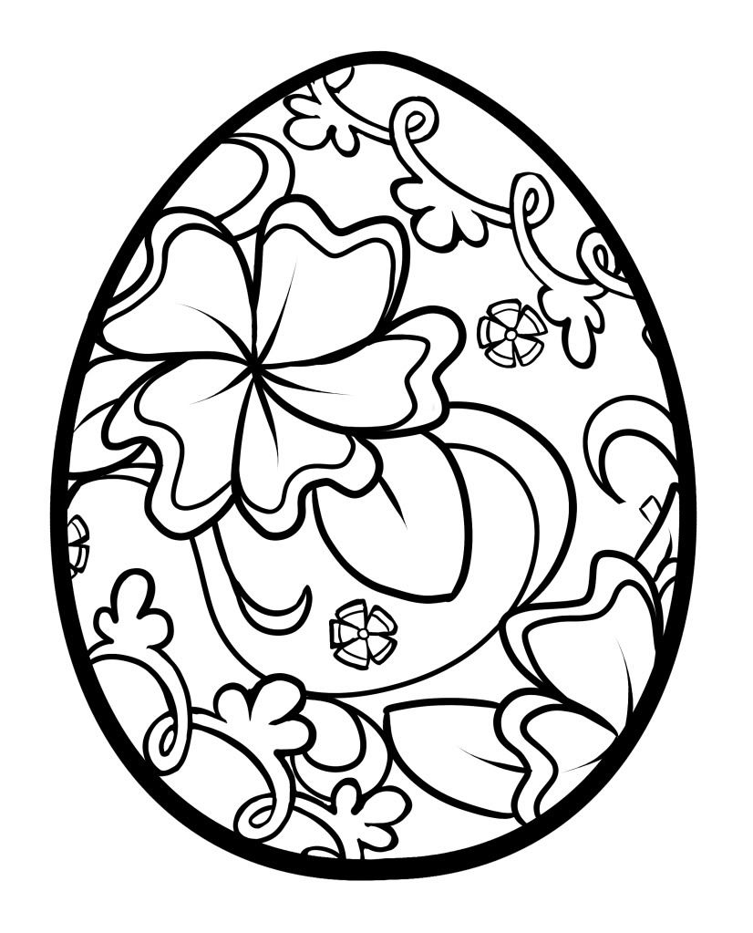 Easter Egg Colouring Pages 122