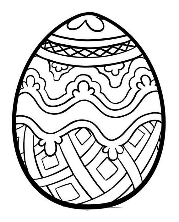 Easter Egg Colouring Pages 128