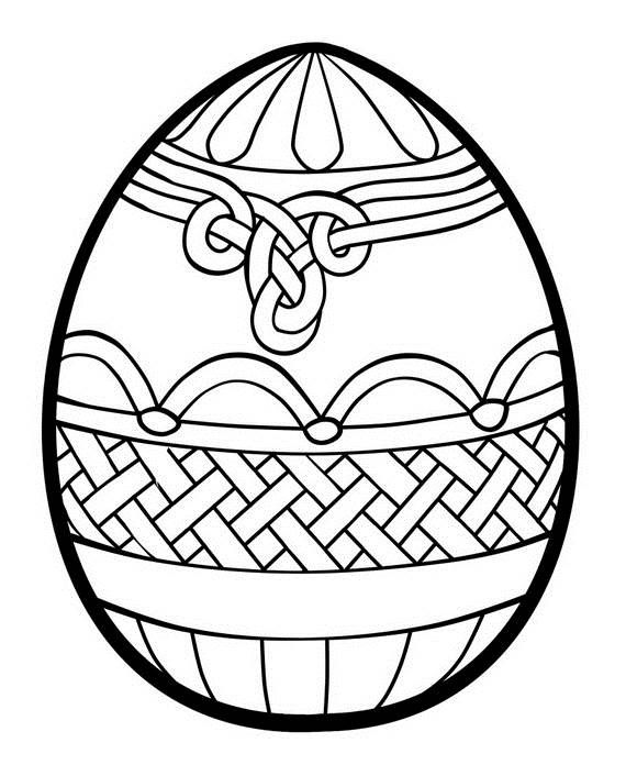 Easter Egg Colouring Pages 129