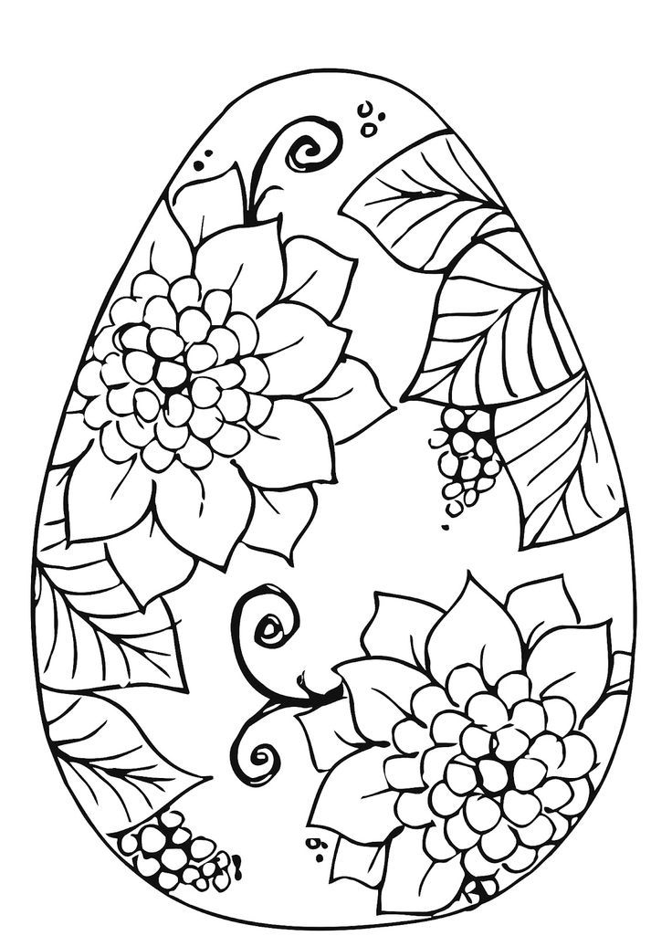Easter Egg Colouring Pages 13
