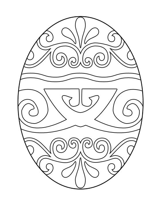Easter Egg Colouring Pages 130