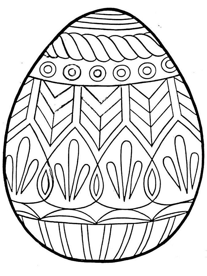 Easter Egg Colouring Pages 14