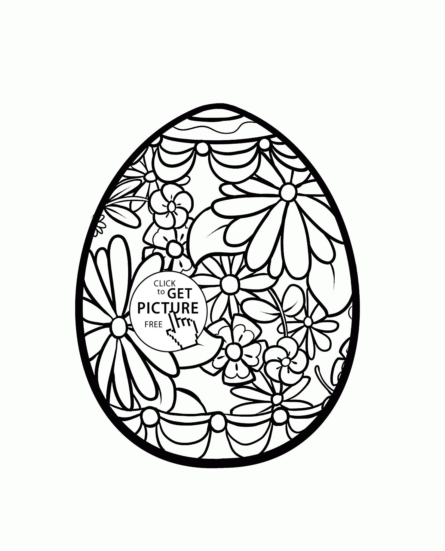 Easter Egg Colouring Pages 15