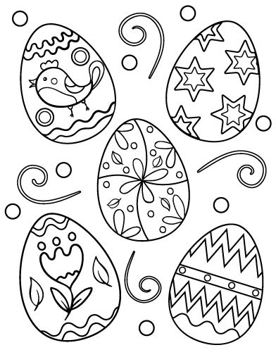 Easter Egg Colouring Pages 19