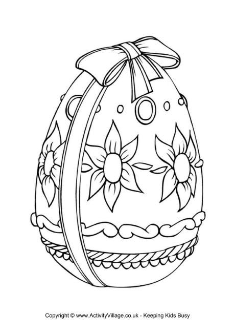 Easter Egg Colouring Pages 20