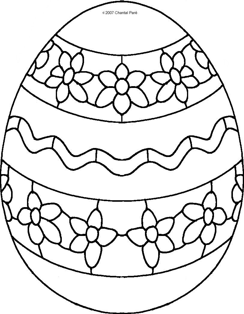 Easter Egg Colouring Pages 3