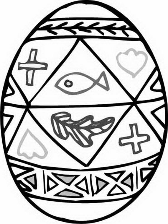 Easter Egg Colouring Pages 36
