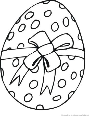 Easter Egg Colouring Pages 4