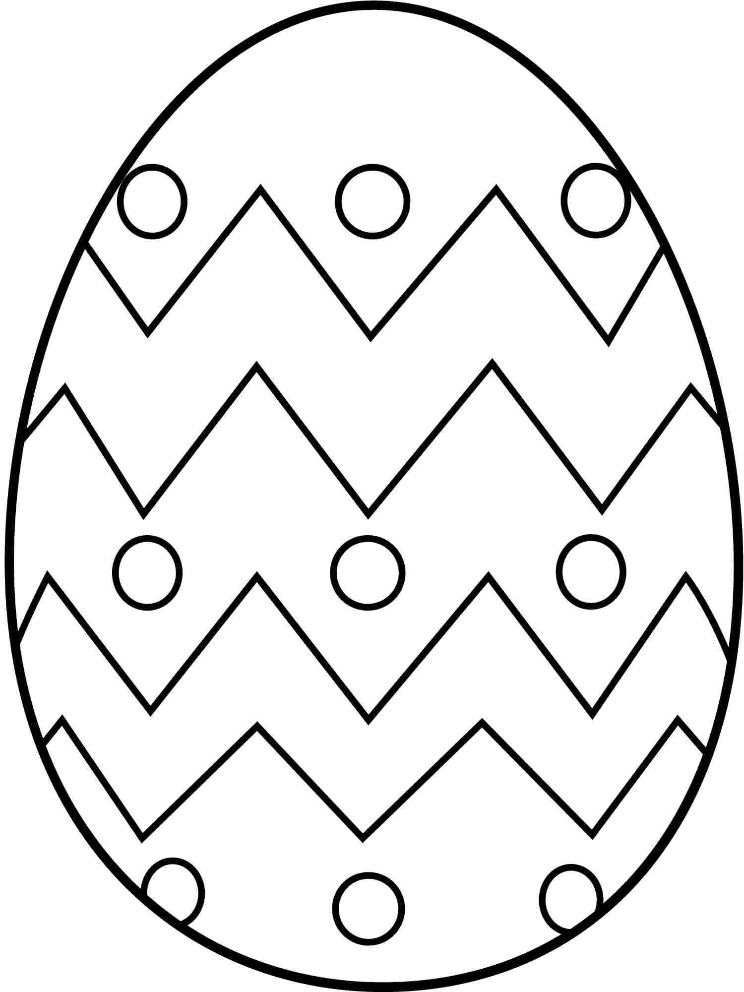 Easter Egg Colouring Pages 43