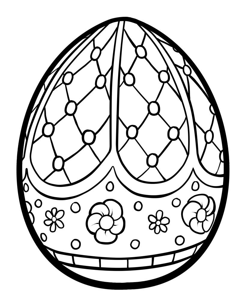 Easter Egg Colouring Pages 44