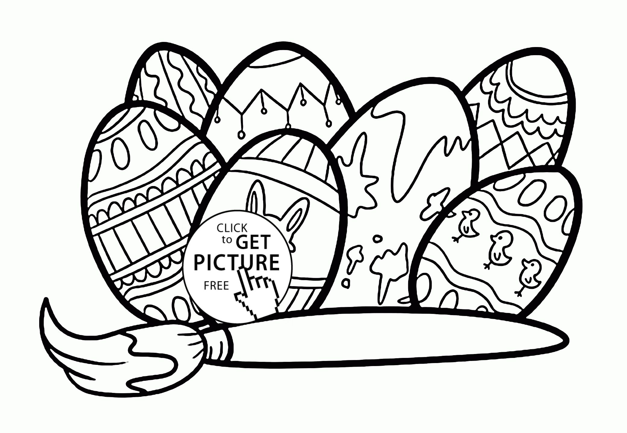 Easter Egg Colouring Pages 48
