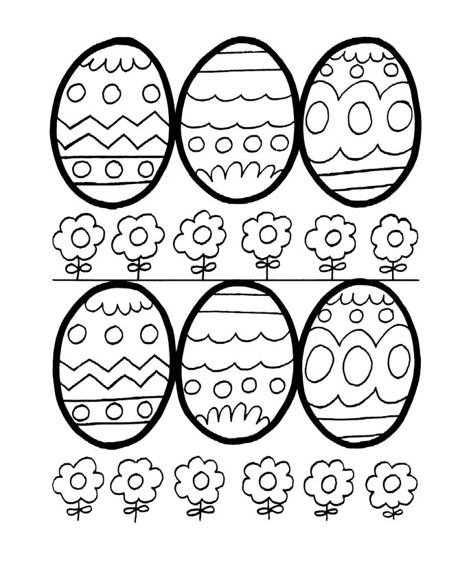 Easter Egg Colouring Pages 5