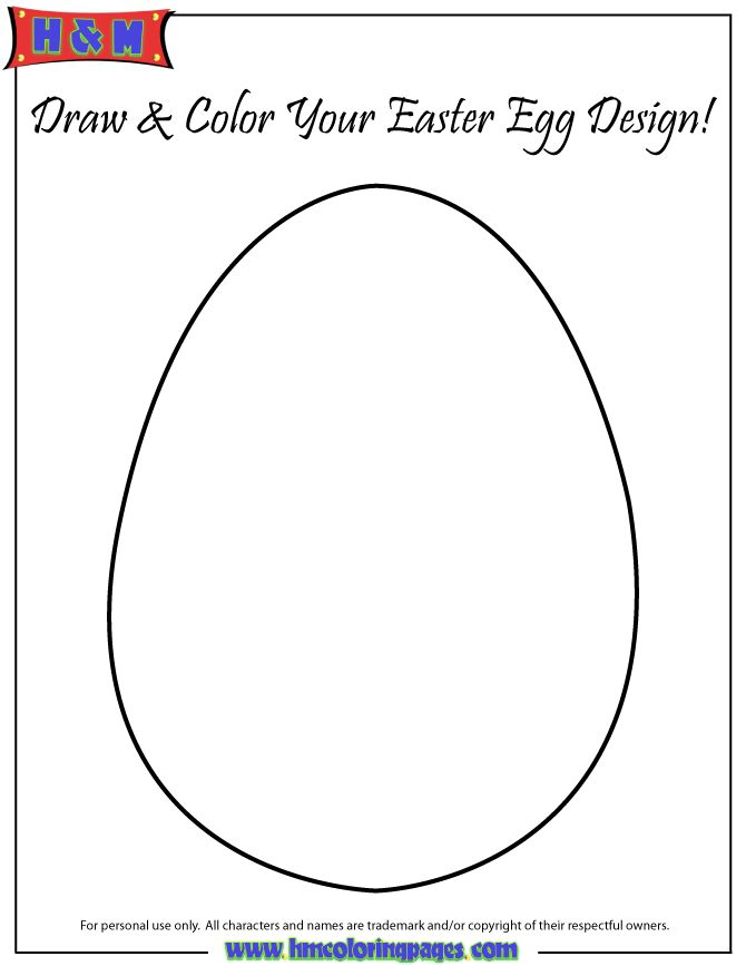 Easter Egg Colouring Pages 52